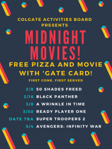 Colgate Activities Board Midnight Movies Flyer