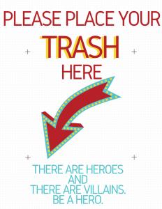 Trash & Recycling Lobby Flyers