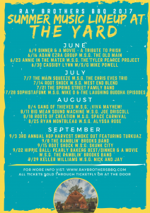 2017 Summer Music Line-Up